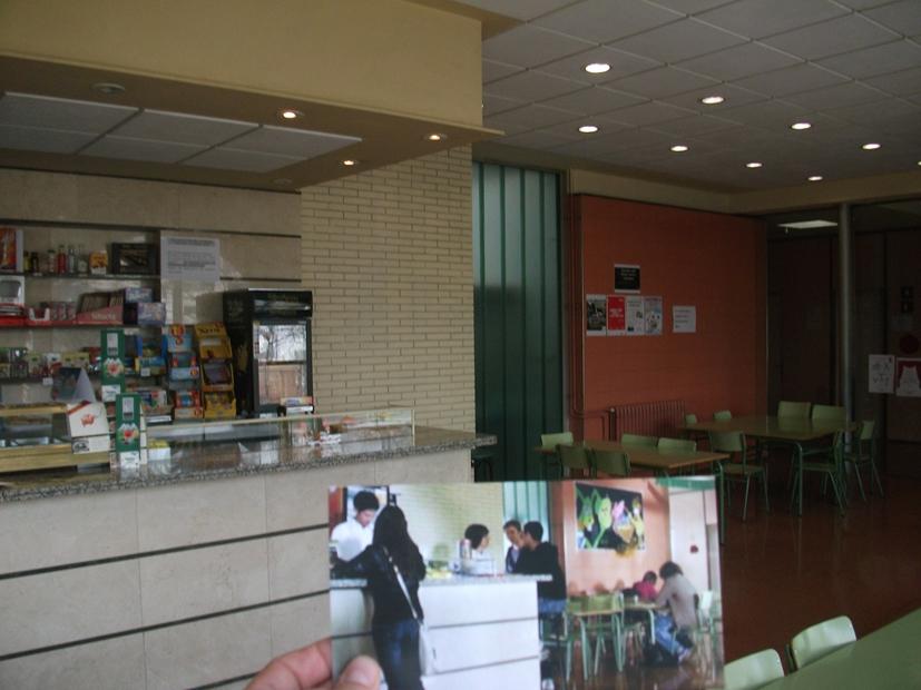 Bar Institut Vall Hebrón+foto pel.lícula